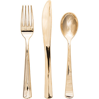 Gold Metallic Assorted Silverware Set