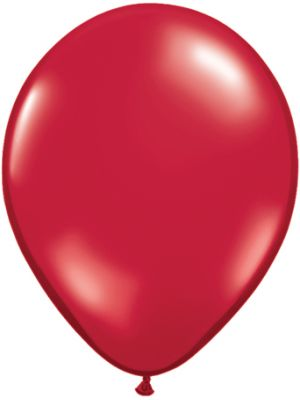 "9"" Ruby Red solid latex Balloon"