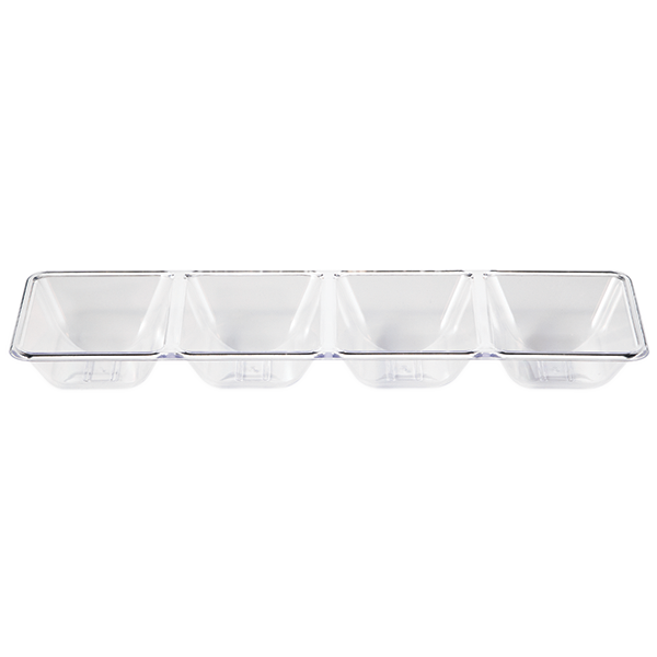 Clear Compartment Serving Tray