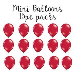 Mini Red latex balloons | Party Supplies | Sprinkles and confetti