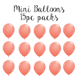 "5"" Mini Balloon 15pc Pack Coral"