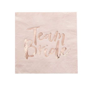 Team Bride Rose Gold Napkins