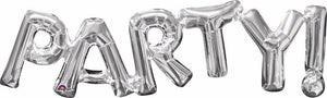 Silver foil Party one piece balloon 33""