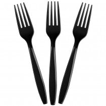 Solid Black Forks