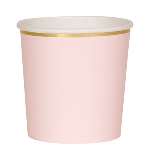 Simple Solids Tumbler Cup - Pale Pink & Gold