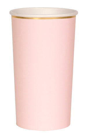 Pale Pink Simply Solids Highball Cup