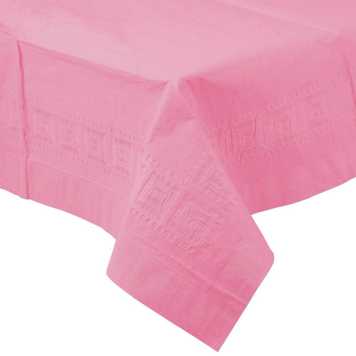 Solid Pink Paper Tablecloth