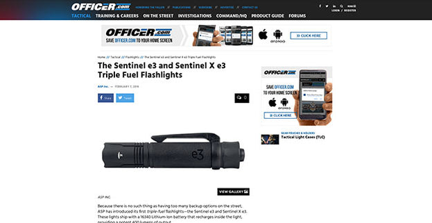 Officer.com: The Sentinel e3 and Sentinel X e3 Triple Fuel Flashlights