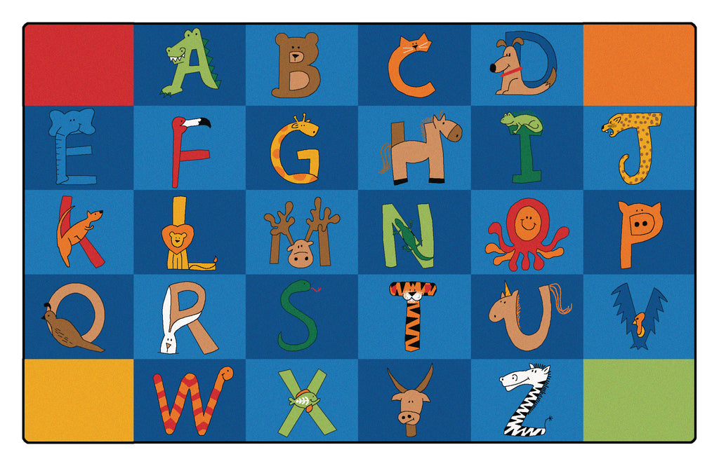 "A to Z Animals Carpets  8'4"" x 13'4"" Rectangle"