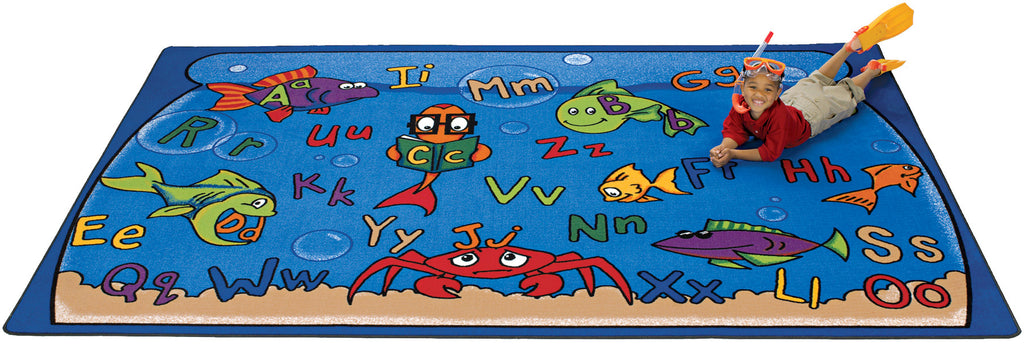 "Alphabet Aquarium Carpets  4'5"" x 5'10"" Rectangle"