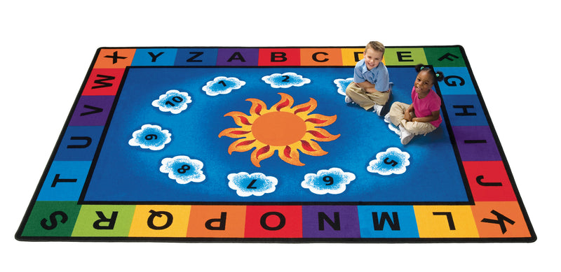 "Sunny Day Learn & Play Carpets  4'5"" x 5'10"" Rectangle"