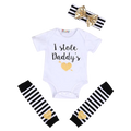 I Stole Daddy's Heart Clothing Set