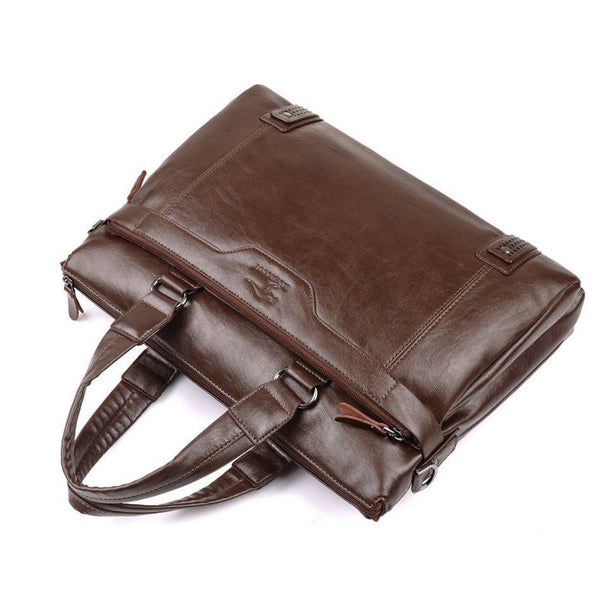 Briefcase - Leather Business Messenger Bag Briefcase Computer Laptop