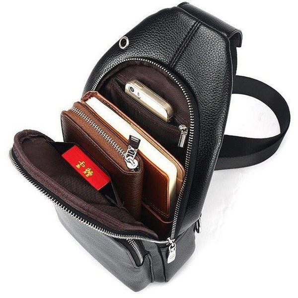 Crossbody Bag - Single Strap Crossbody Leather Travel Shoulder Bag