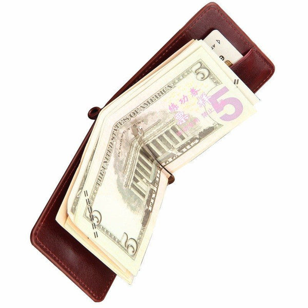 Money Clip - PU Leather Folding Money Clip Multiple Styles