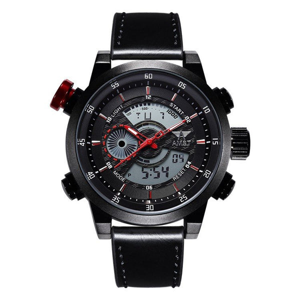AMST LED Military Style Digital and Analog Sport Watch