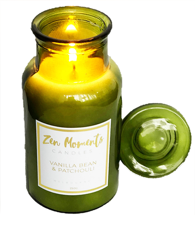 Small Green Bottle Candle