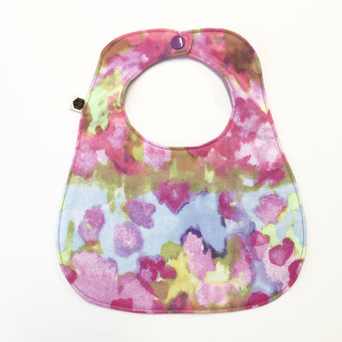 Reversible Flannel Bib - Watercolor