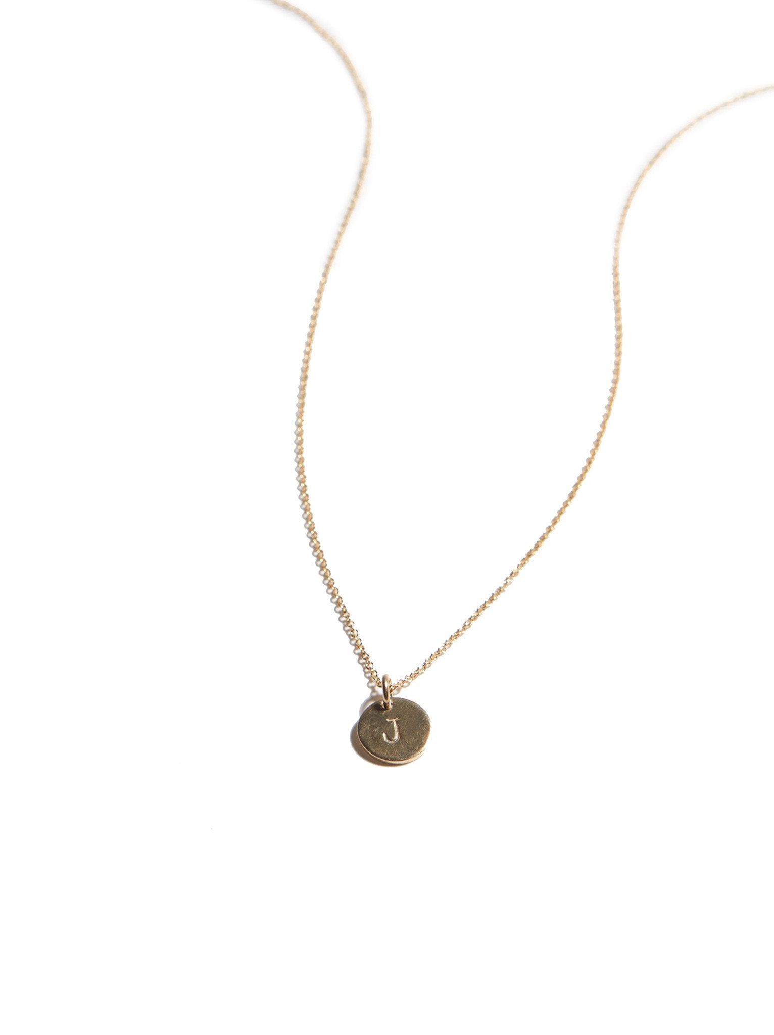 Mini Tag Necklace - Initial