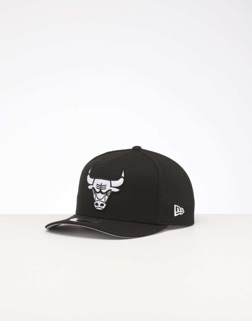New Era Chicago Bulls 9FIFTY Retro High Crown Precurved Snapback Black