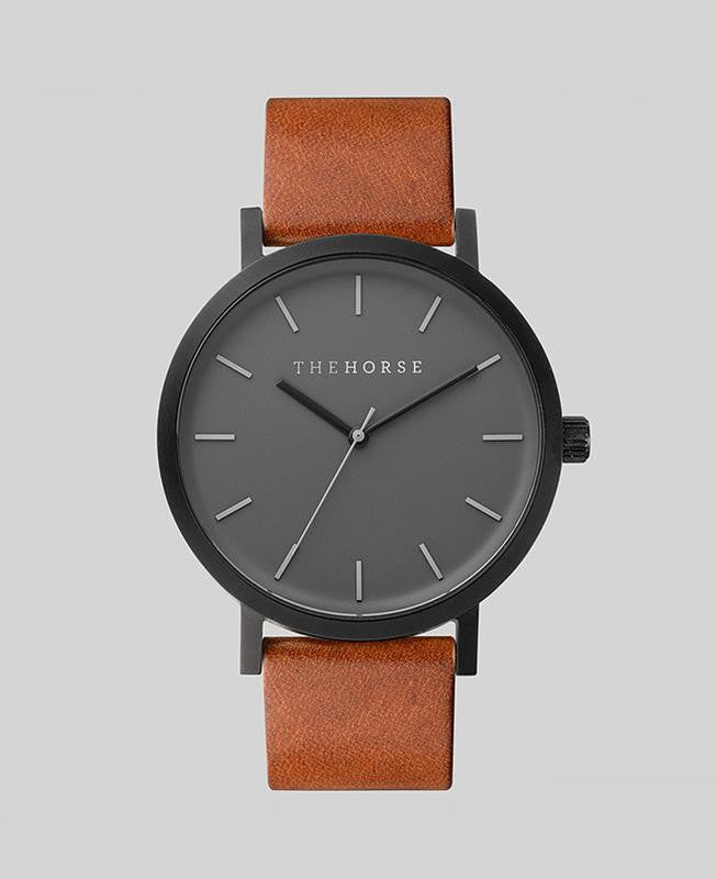 THE HORSE | MATTE BLACK / TAN LEATHER