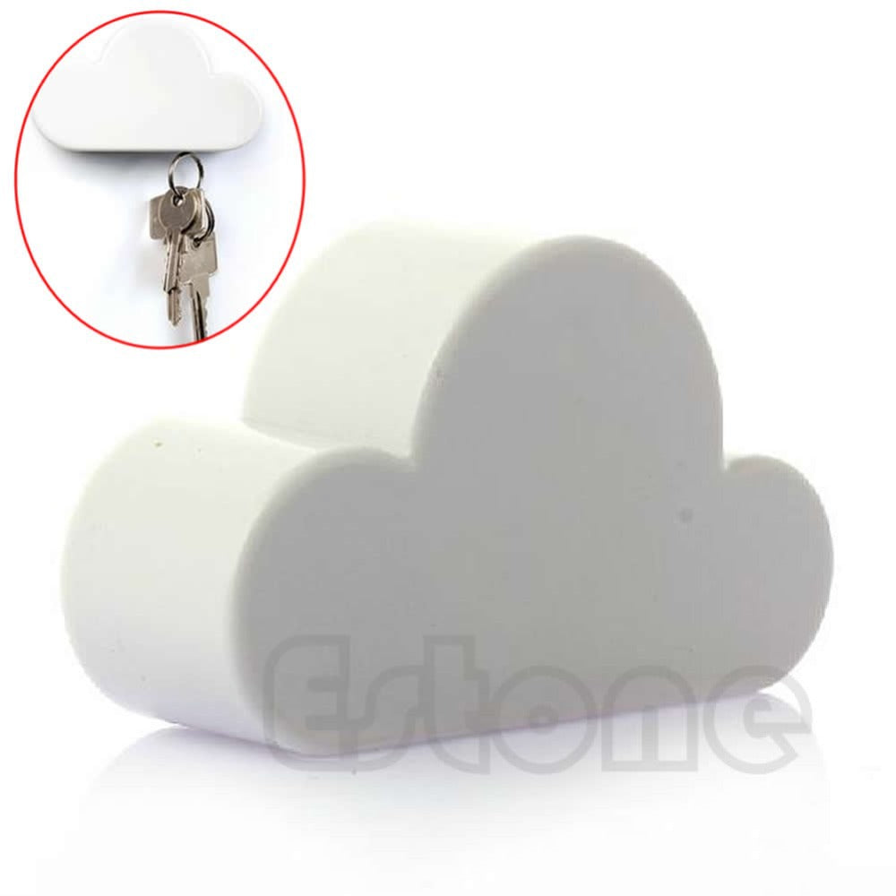 New Hot Novelty White Color Cloud Shaped Magnetic Magnets Key Holder Gift