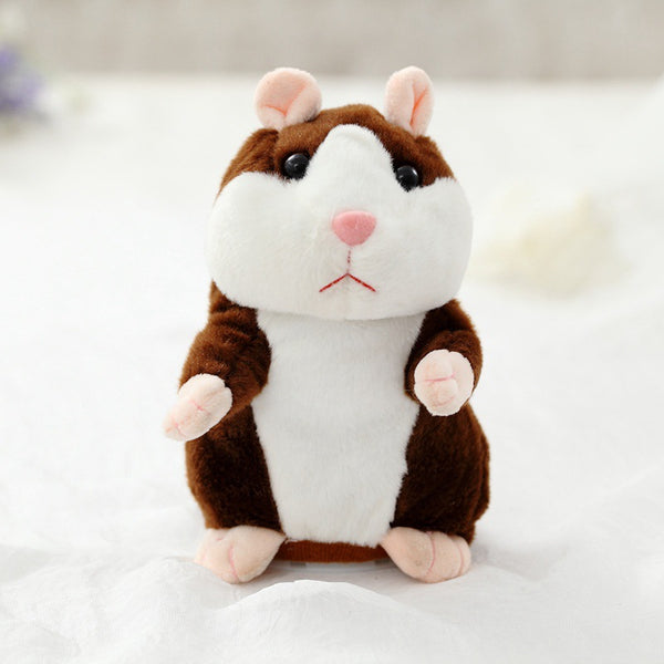 Dropshipping Promotion 15cm Lovely Talking Hamster Speak Talk Sound Record Repeat Stuffed Plush Animal Kawaii Hamster Toys