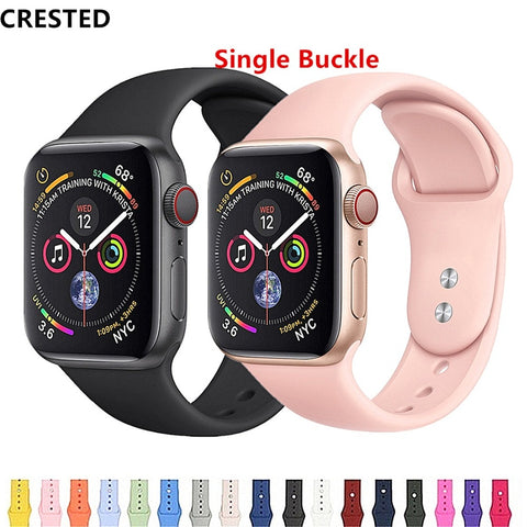 CRESTED Strap For Apple Watch band apple watch 4 3 iwatch band 42mm 38mm correa 44mm/40mm pulseira Bracelet watch Accessories 42