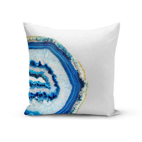 Agate Dark Blue and Turquoise Cushion