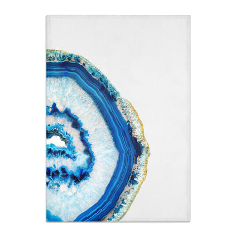 Agate Dark Blue and Turquoise Tea Towel
