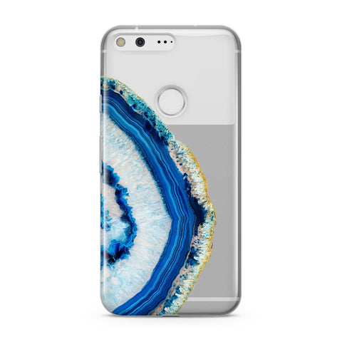 Agate Dark Blue and Turquoise Google Case