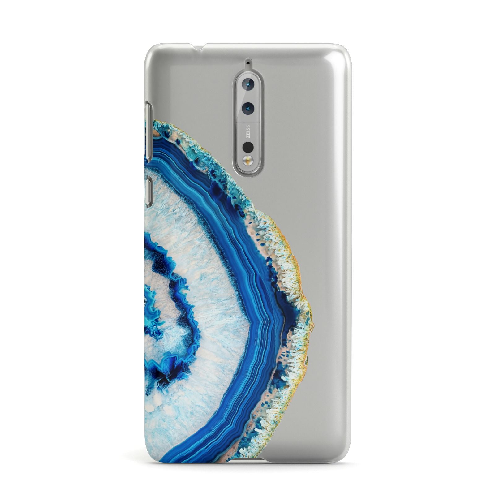 Agate Dark Blue and Turquoise Nokia Case