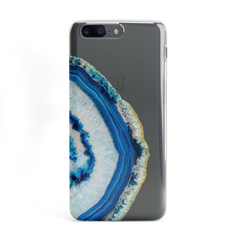 Agate Dark Blue and Turquoise OnePlus Case