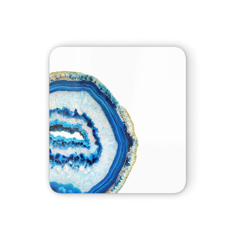 Agate Dark Blue and Turquoise Coasters set of 4
