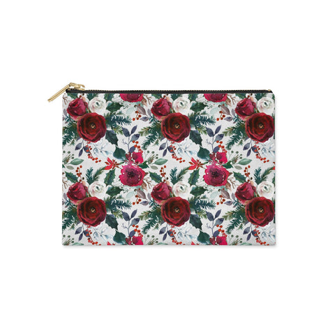 Christmas Floral Pattern Clutch Bag