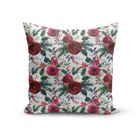 Christmas Floral Pattern Cushion