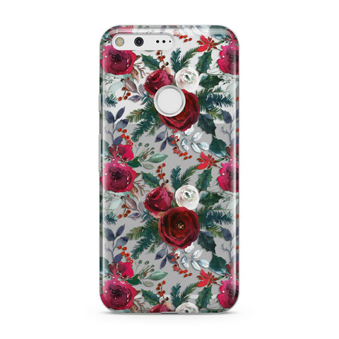 Christmas Floral Pattern Google Case