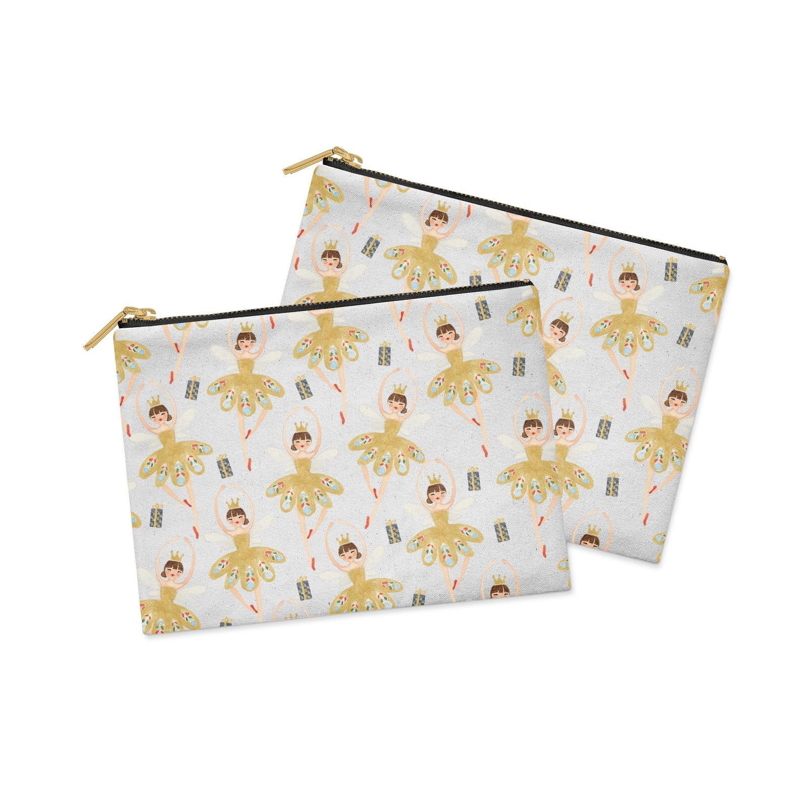 Dancing ballerina princess Clutch Bag Zipper Pouch Alternative View