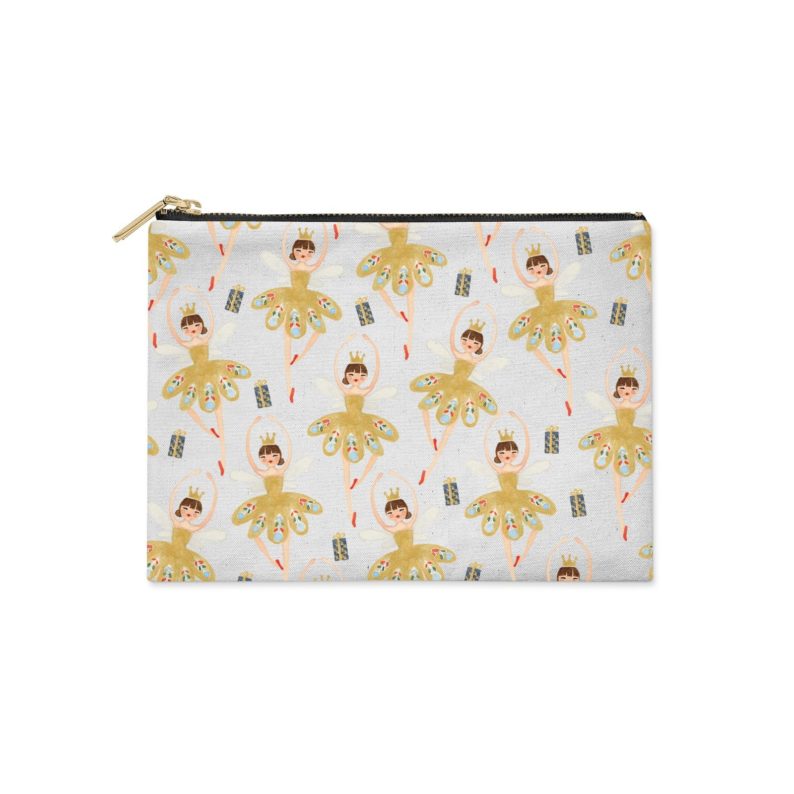 Dancing ballerina princess Clutch Bag Zipper Pouch