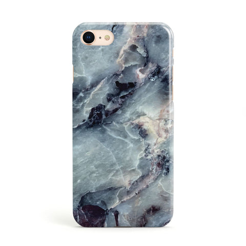 Faux Marble Blue Grey Apple iPhone Case