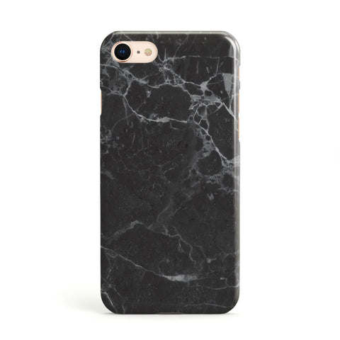 Faux Marble Effect Black Apple iPhone Case