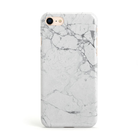 Faux Marble Effect Grey White Apple iPhone Case