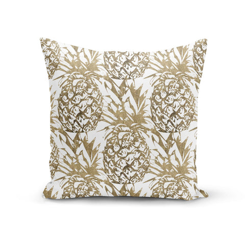 Gold Pineapple Fruit Cushion