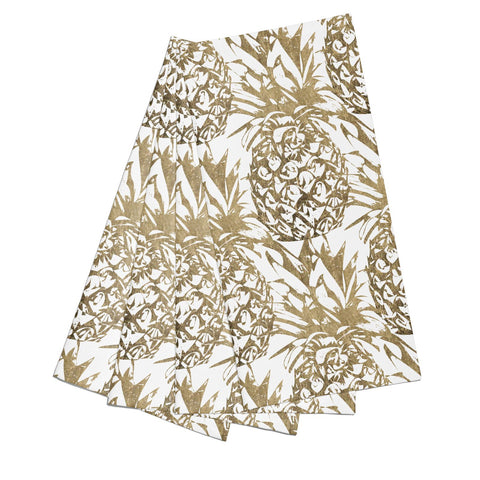 Gold Pineapple Fruit Napkins