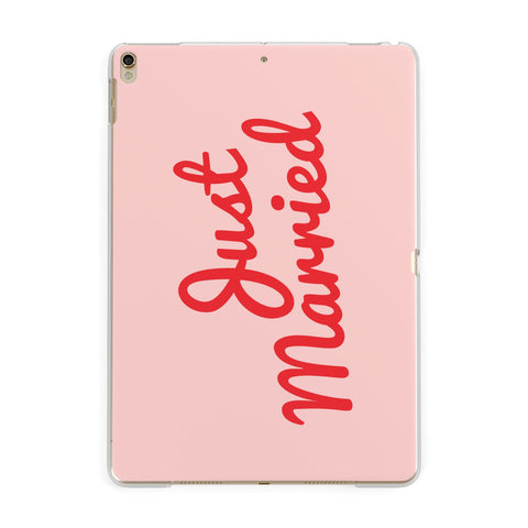 Just Married Red Pink iPad Case
