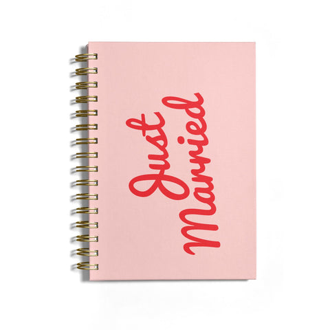 Just Married Red Pink Notebook