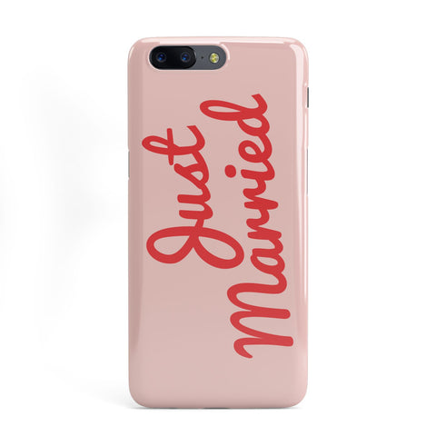 Just Married Red Pink OnePlus Case