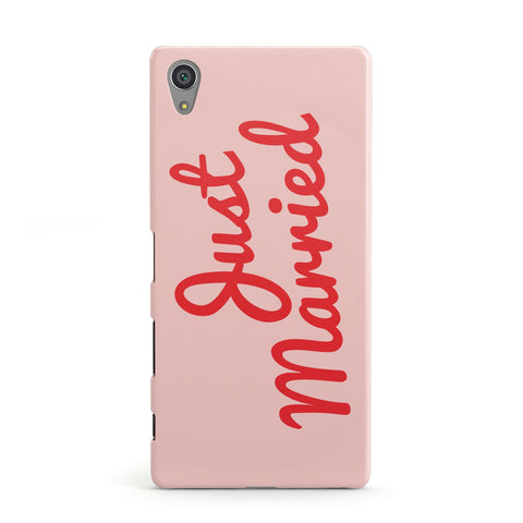 Just Married Red Pink Sony Case
