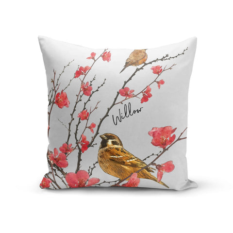 Personalised Birds Cushion