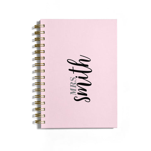 Personalised Bridal Notebook